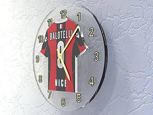 Mario Balotelli 9???Horloge murale Football Ogc Nice???Football Legends ?dition limit?e