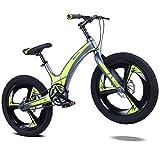 AI-QX Vélo Enfant pour Garcons et Filles de 5-7 Ans  Bicyclette Enfant 16-20 Pouces Cruiser avec Freins ,Yellow,16''