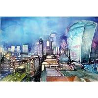 Posterlounge Impresión en metacrilato 180 x 120 cm: London, The Walkie Talkie de Johann