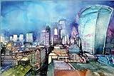 Posterlounge Acrylic print 130 x 90 cm: London, The Walkie Talkie by Johann Pickl