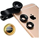 Wonderford Universal 3 In 1 Magic Mobile Lens (Fish Eye, Wide Angle, Macro) Lens Suitable With All Android Or Iphone Devices (One Year Warranty,Colour May Vary)