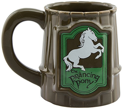 GB Eye Herr der Ringe Prancing Pony Tasse, Keramik, Verschiedene, 13x 11x 11,5cm