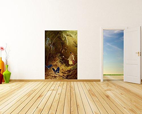 Vlies Fototapete Carl Spitzweg - Alte Meister - Der Schmetterlingsfänger - 60x90 cm - inklusive...