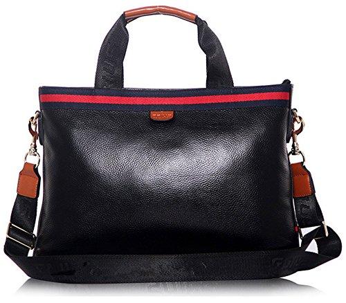 Xinmaoyuan uomini borsette in cuoio uomini il pacchetto Business borsetta borsa per computer,blu Nero