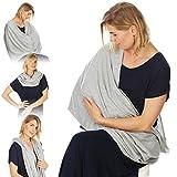 Kiddo Care Nursing Cover Infinity sciarpa infermieristica per l'allattamento al seno (Grigio Elegante)