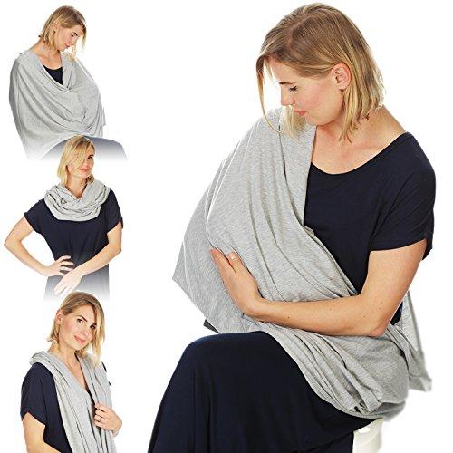 Kiddo soins infirmière couverture infirmière infinie écharpe pour l'allaitement (gris élégant)