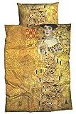 Goebel Satin-Bettwäsche nach Gustav Klimt Adele Bloch 135x200 cm Gold