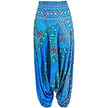 b0213e0f65 Zhuhaitf Pantaloni da Harem Yoga classici da donna Pantaloni casual Elastico  in vita Pantaloni larghi da