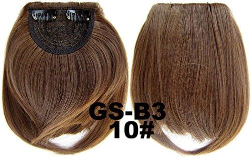 # 10 100% fibre synthétique haute température Clip dans/sur cheveux avant frange frange cheveux