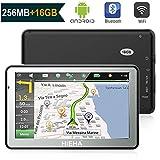 7' GPS Automatique de Voiture Moto 16GB, HIEHA Android Système d'Operation 4.4.2, Appareil de Navigation Écran HD Tactile, Intégrer Le Système des Instructions Vocales, Multi-Languages