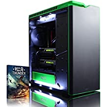 VIBOX Legend 36 - Ordenador para gaming (Intel i7-5960X, 32 GB de RAM, 3 TB de disco duro, Nvidia Geforce GTX 980 Ti SLI, Windows 10) color negro y verde