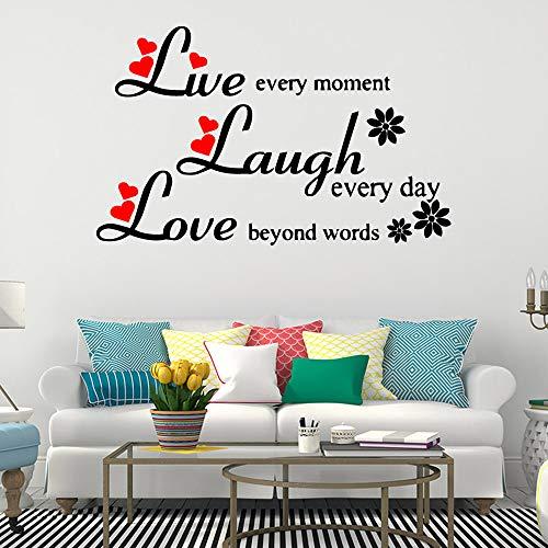 yaoxingfu Live Laugh Love QuotesWandaufkleberWanddekorationen Wohnzimmer Schlafzimmer AufkleberWandhauptdekorationenAbnehmbare Wand De30 cm X 48 cm (60 Billig Einladungen Geburtstag)