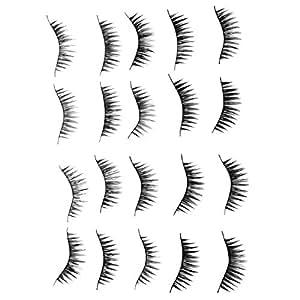 SODIAL(TM) 10 Pair Long Black False Eyelashes Eye Lashes Makeup