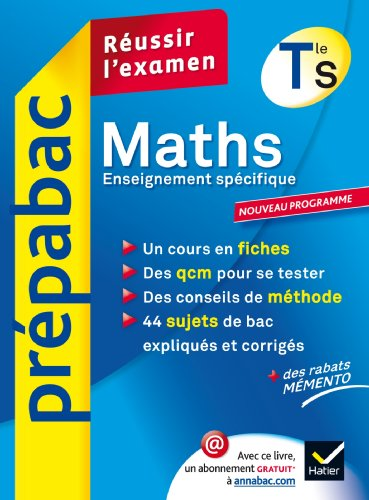 Prpabac maths terminale S enseignement obligatoire
