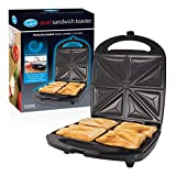 Quest 35990 Benross Stainless Steel Quad Four Sandwich Toaster Maker Non Stick with Auto Temperature Control, 1100 W