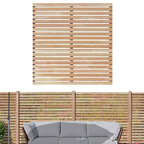 Sichtschutzzaun 180x180 cm aus Lärchenholz Bausatz Zaunelement zum selber bauen von Gartenpirat®