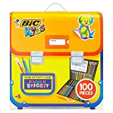 NEW Bic Kids 100 Piece Colouring and Sticker Drawing Set