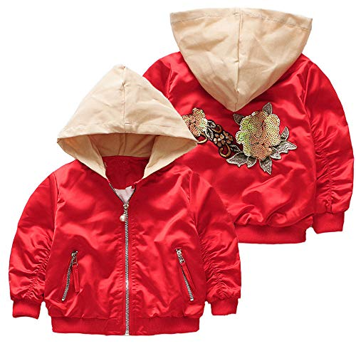 (Kinder (3J-6J) Baby Oberbekleidung, Quaan Winter Herbst Mantel Karikatur Jacke Oberbekleidung Foral Kapuzenpullover Kleider Mantel)