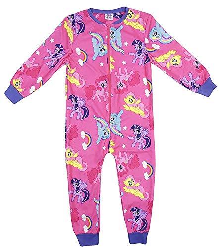 Mädchen Charakter All in One Fleeceartig Schlafanzug Verschiedene Charaktere und Größen - My Little Pony Multiprint, 122-128
