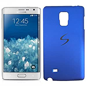 Chavanz Rubberised Matte Hard Case Back Cover For GALAXY Note Edge (SM-N9150ZWETGY) Blue