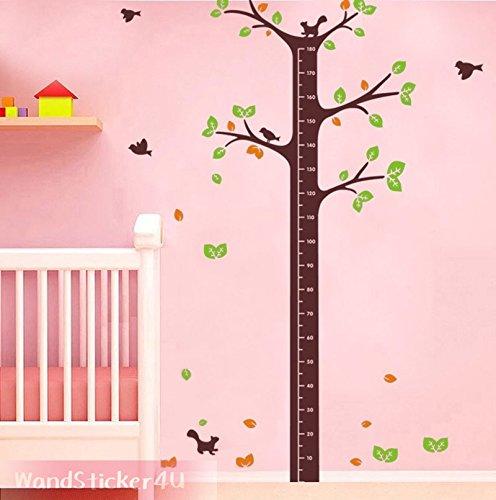 sticker4u-adesivo-da-parete-metro-albero-h-200-cm-motivo-uccello-scoiattolo-mass-band-etichetta-stic