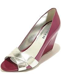 7009F decollete spuntata donna HOGAN zeppa h 227 fasce incrociate shoes  women 0c2501729b9