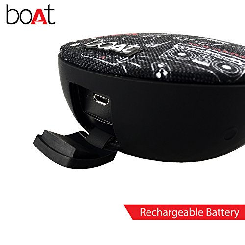 boAt Stone 260 Portable Bluetooth Speakers (Charcoal Black)