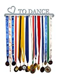 'Love to Dance' Medal Hanger Display Holder Brushed Stainless Steel - Made in Britain