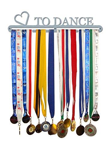 """Medaillen-Aufhänger mit Aufschrift """"Love To Dance"""", aus gebürstetem Edelstahl, hergestellt in ()"""