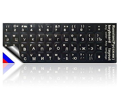 LEDELI Tastaturaufkleber Tastatur Aufkleber Keyboard Sticker Tastatur-Aufkleber für PC, Laptop, Notebook, Computer-Tastaturen (Russisch Layout)
