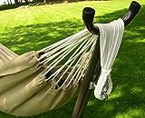 Vivere Doppel Sunbrella Hängematte mit Hängemattengestell 280 cm, Limelight - 5