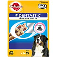 Pedigree Dentastix Dental Dog Chews for Large Dog, Pack of 4 (Total 4 x 28 Sticks)