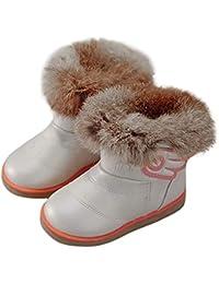 Botas Bebé Unisex Invierno de Niñas Niños Más Terciopelo de PU de Alas Zapatos de Bebé Botines Calentar Acogedor…