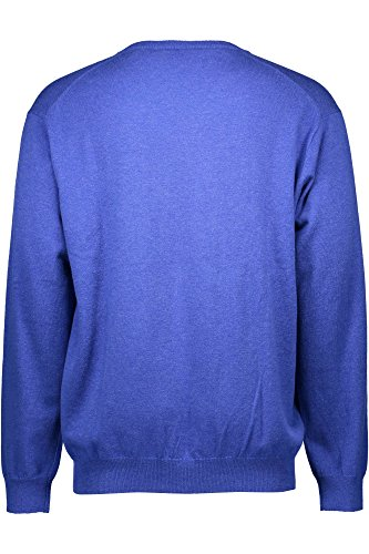 GANT Herren Pullover COTTON WOOL V-NECK Blau