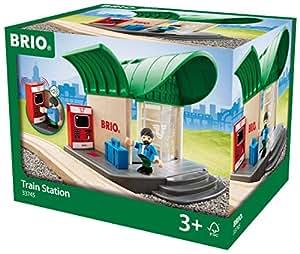 BRIO World 33745 - Bahnhof mit Sound, Transport Verkehr