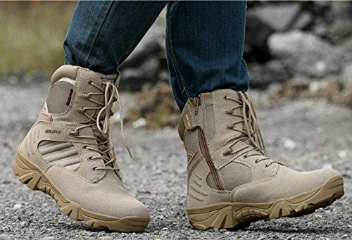 WZG Die neuen Armee Fans im Freien High-Top-Stiefel Wüste Kampfstiefel Stiefel männlichen US-Militär Spezialeinheiten taktische Stiefel Marine-Stiefel Feld Black