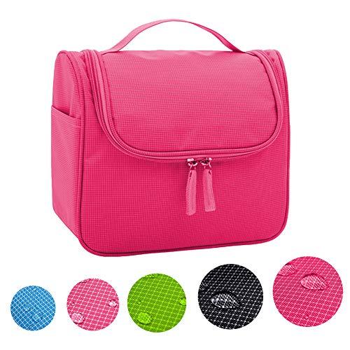 Cineen appendere beauty case da viaggio borsa da toilette impiccagione outdoor pratico cosmetici borsa da viaggio per accessori bagno (rosso)