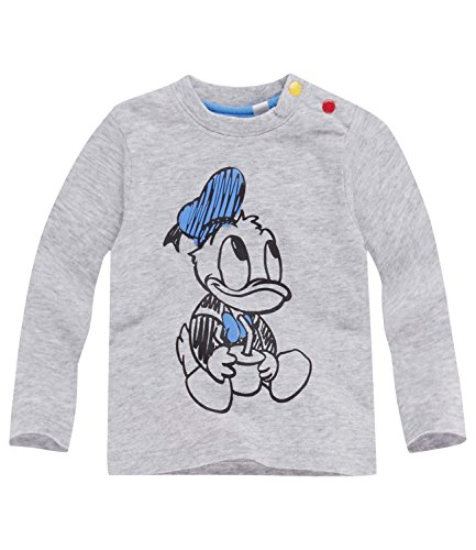Disney Donald Duck Langarmshirt, grau, Gr. 62-92
