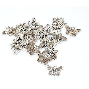 20Stück Silber Charms für DIY Armband/Halskette mix und match oder gleichen Butterfly 2