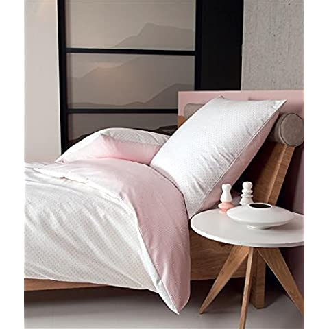 Janine Ropa de cama de franela (2piezas, funda nórdica de 135x 200cm 80x 80cm funda de almohada Davos Color