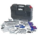 WORKPRO 123-teilig Steckschlüsseleinsatz Werkzeug Kasten Fahrrad Auto Reparatur Steckschlüssel-Satz mit Werkzeugkoffer