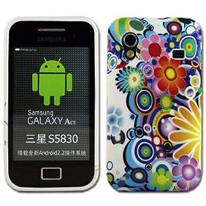 Silikoncase für Samsung Galaxy Ace Flower viele Farben