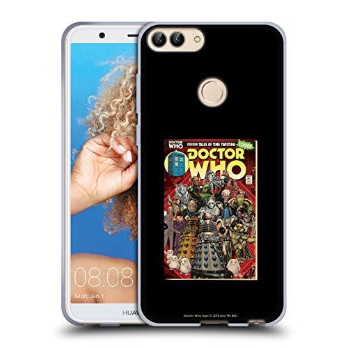 Head Case Designs Offizielle Doctor Who Boesewichte Klassiche Comic Cover Soft Gel Hülle für Huawei P Smart/Enjoy 7S