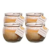 #5: Scented Candle Jars Globe Shaped Set of 4 | Richly Scented Vanilla Caramel Aroma | Candles for Decoration | Candles for Bedroom