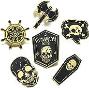 FSMILING Gothic Enamel Pin Set Novelty Cute Women Men Brooches Lapel Pins Badges