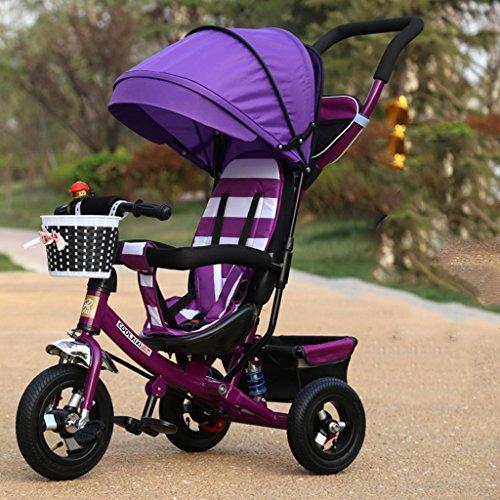Preisvergleich Produktbild KA-ALTHEA- Kinder Tricycle Faltrad Spaziergänger Kinderfahrrad Kinderwagen (Schaum Räder, Lufträder) Kinderroller Skateboard Fahrrad Walker Tricycle ( farbe : Lila , größe : B )