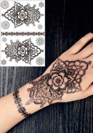 HENNA NOIR tatouages temporaires au henné Henna pour le corps N111