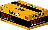 Kodak XTRALIFE Batteria Alcalina AA, 60 Pezzi, Nero