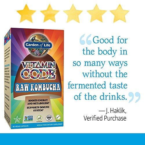 Garden of Life Vitamin Code Raw Kombucha (60 Ultra Zorbe Vegan Capsules)