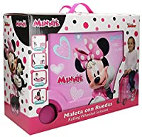 Disney Genuine Ride-on Childrens ABS Hard Shell Suitcase Cabin Case Roller (03 MInnie Mouse)